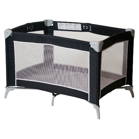 Foundations Sleep n Store Portable Playard - Graphite - image 1 of 2