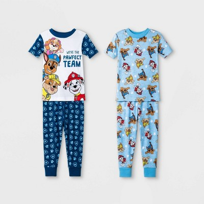 Toddler Boys' 4pc PAW Patrol Pajama Set - Blue