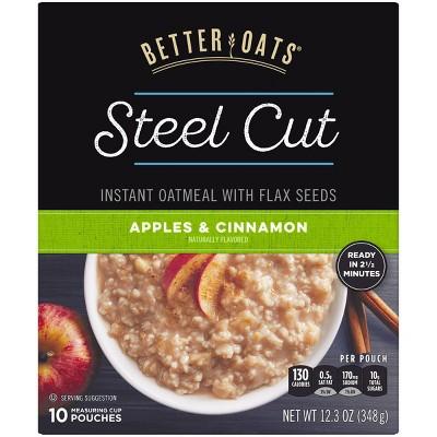 Better Oats Apples & Cinnamon Steel Cut Oats - 12.3oz