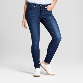 Women's Mid-Rise Skinny Jeans - Universal Thread™ Dark Wash 2 Short