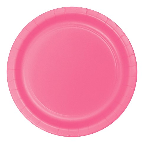 "Candy Pink 9"" Paper Plates - 24ct - image 1 of 1"