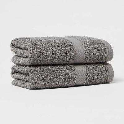 2pk Hand Towel Set Dark Gray - Room Essentials™
