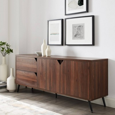 """Tapered Leg Mid-Century Modern Console TV Stand For TVs Up To 65"""" - Saracina Home : Target"""