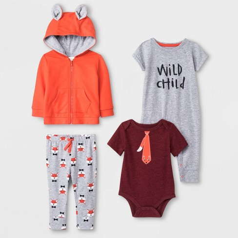 Baby Boys' 4pc Fox Top and Bottom Set - Cat & Jack™ - image 1 of 1