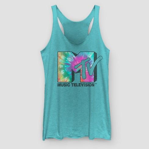 dd13d2657 Women's MTV Tie Dye Logo Tank Top - Teal. Shop all Fifth Sun