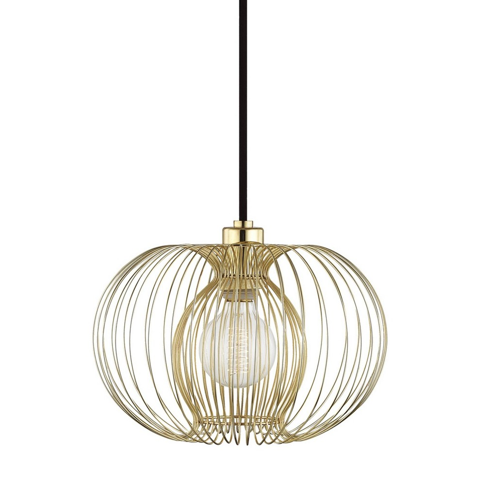 Jasmine 1-Light Small Pendant Chandelier Aged Brass - Mitzi by Hudson Valley Reviews