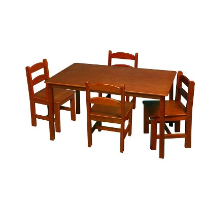 5pc Kids' Rectangle Table and Chair Set - Gift Mark