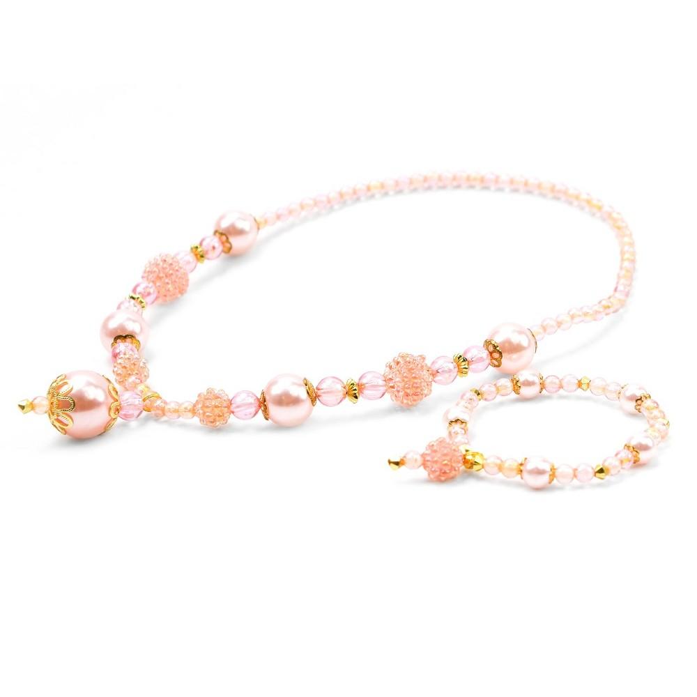 Little Adventures Princess Jewelry - Pink-Gold Set