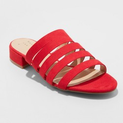 98c50d76ccd1 Women s Amali Multi Strap Microsuede Low Heeled Slide Sandals - A New Day™