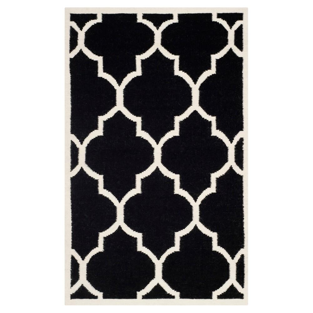 Alarice Dhurry Rug - Black/Ivory - (3'x5') - Safavieh