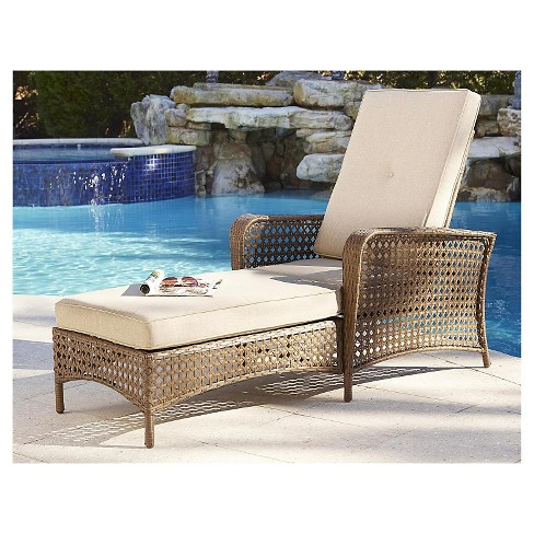 Sensational Cosco Lakewood Ranch Steel Woven Wicker Outdoor Adjustable Chaise Lounge Chair With Cushions Brown Ocoug Best Dining Table And Chair Ideas Images Ocougorg