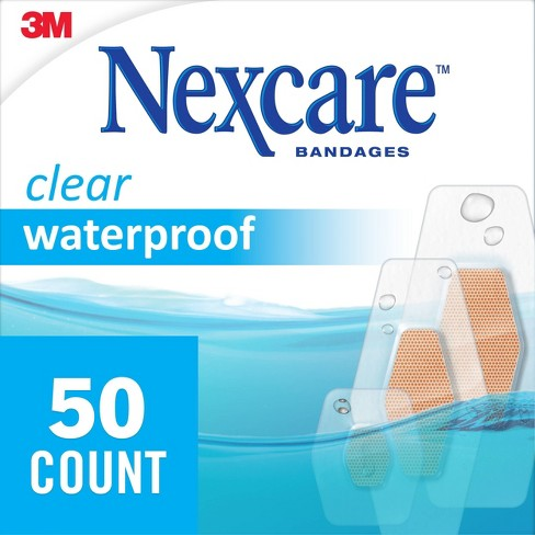 Nexcare Waterproof Bandages - Clear - Assorted Sizes - image 1 of 4