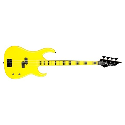 Dean Custom Zone Yellow Electric Bass with Matching FB - image 1 of 1