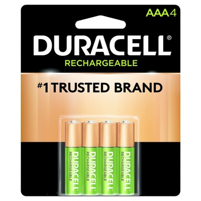 Batteries: Duracell Rechargeable