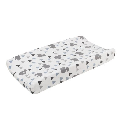 NoJo Mountain Patchwork Soft Plush Velboa Changing Pad Cover
