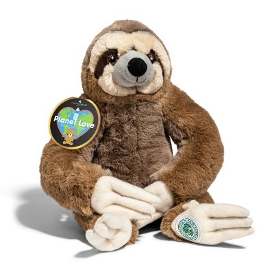 """FAO Schwarz Planet Love Recycled Bottle Sloth - 10"""" Toy Plush"""