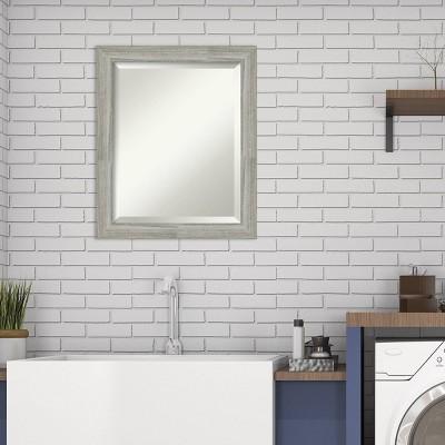 "20"" x 24"" Dove Graywash Framed Bathroom Vanity Wall Mirror - Amanti Art"