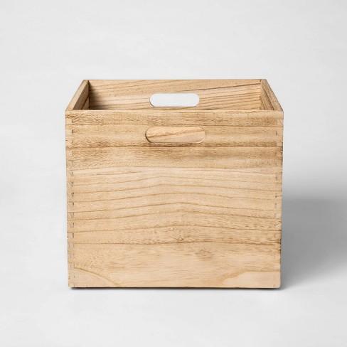 Large Wood Milk Crate Toy Storage Bin - Pillowfort™ - image 1 of 4