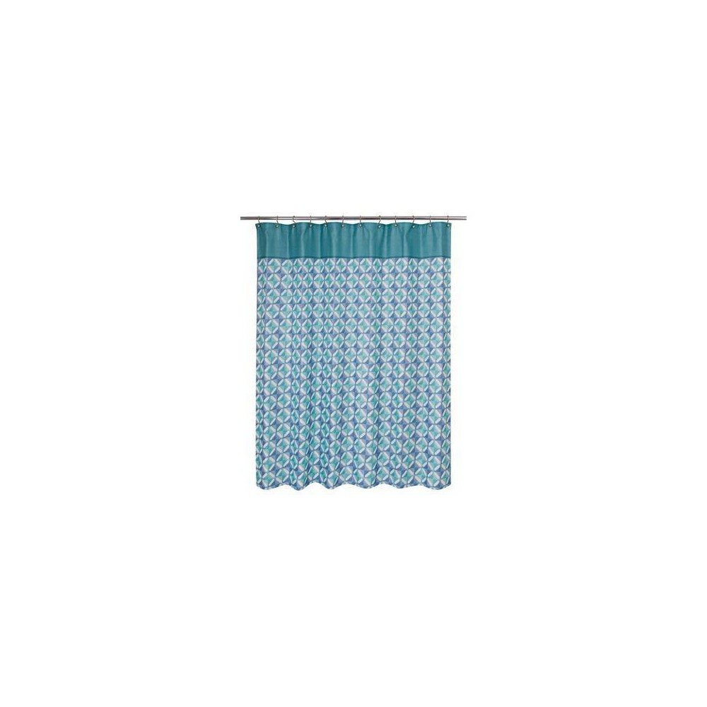 Grid Overlap Shower Curtain Blue - Allure Home Creation