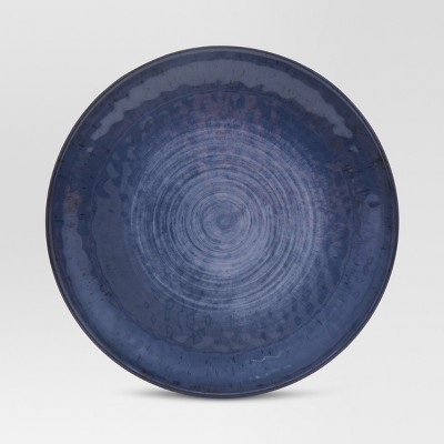 Melamine Dinner Plate 10.5  Metallic Blue - Threshold™