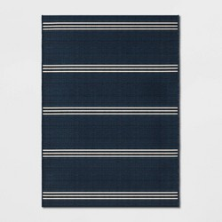 Stripe Outdoor Rug Navy - Threshold™