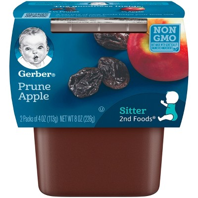 Gerber 2nd Foods Prunes with Apples, 4oz, 2ct