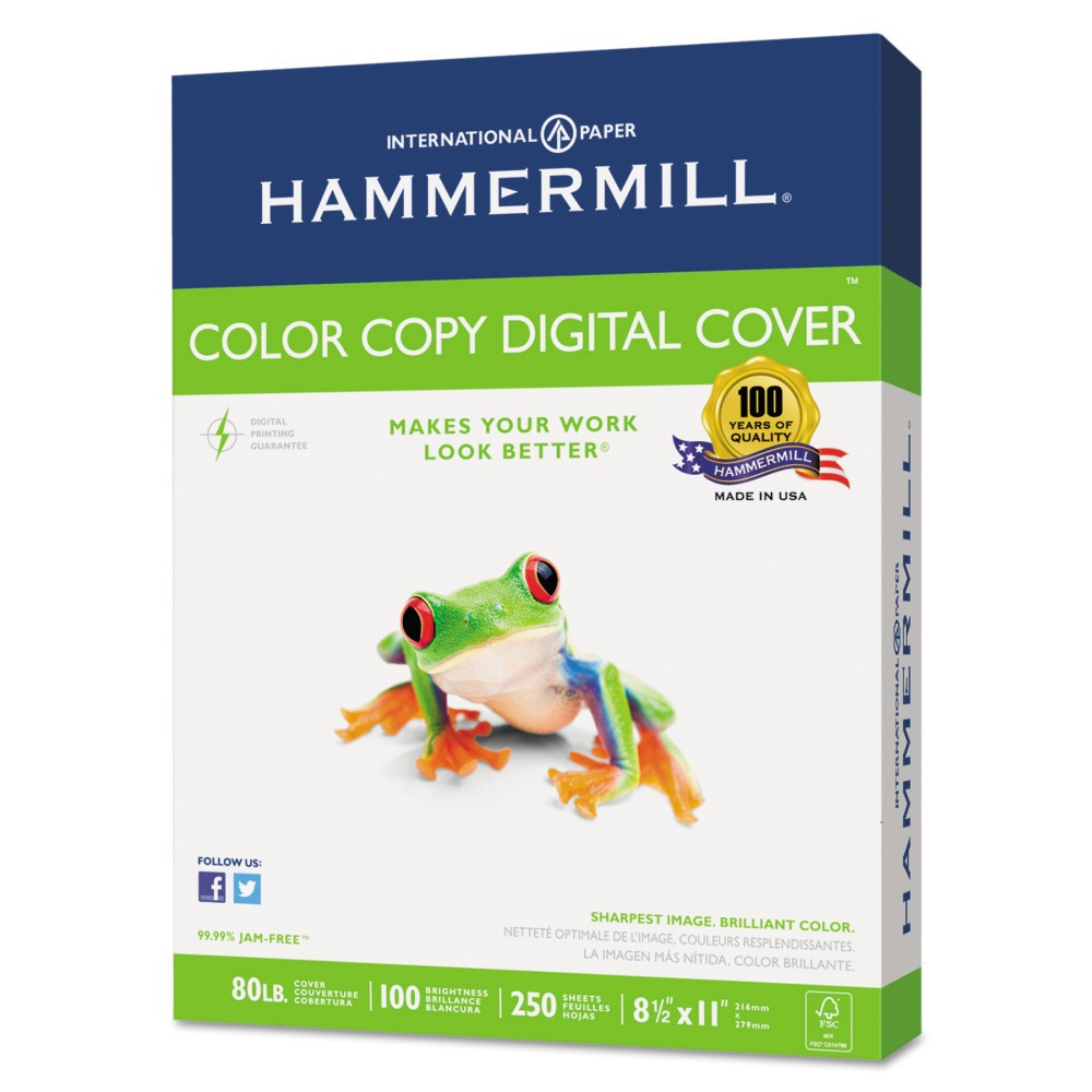 Image of Hammermill Copier Digital Cover Stock 80 lbs. 8 1/2 X 11 Photo White 250 Sheets