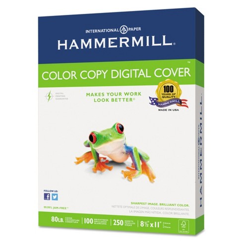 Hammermill Copier Digital Cover Stock 80 lbs. 8 1/2 X 11 Photo White 250 Sheets - image 1 of 1