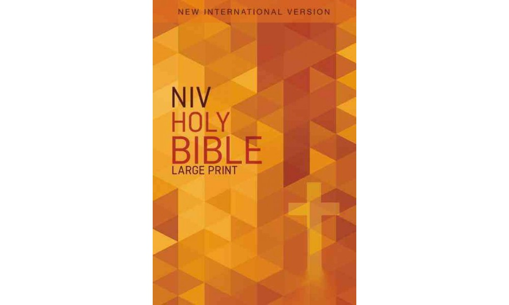 Holy Bible : New International Version, Orange Cross (Pap...