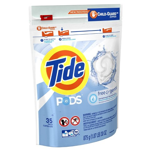 Tide PODS Laundry Detergent Pacs Free & Gentle - 35ct - image 1 of 3