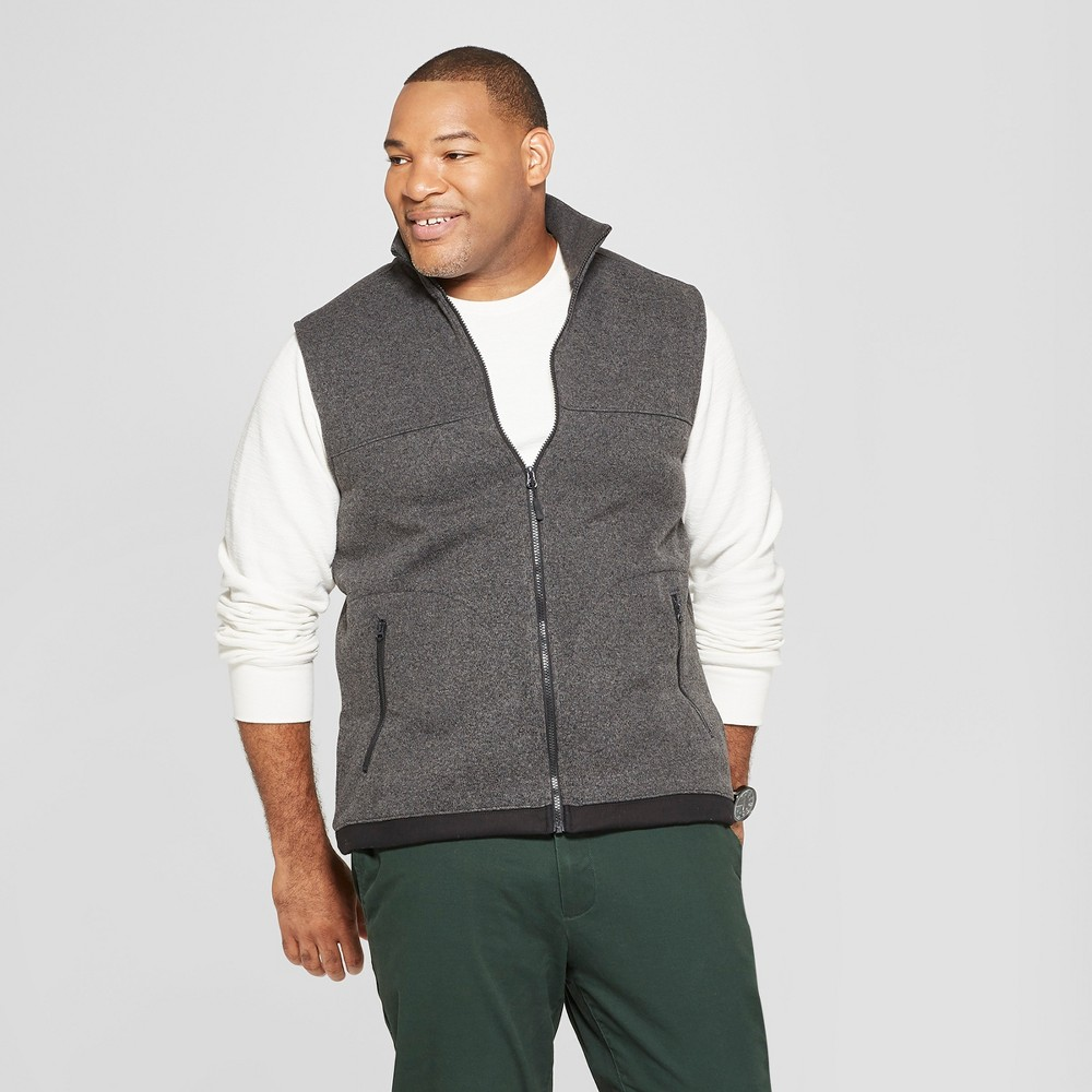 Men's Big & Tall Sweater Fleece Vest - Goodfellow & Co Charcoal (Grey) 5XBT