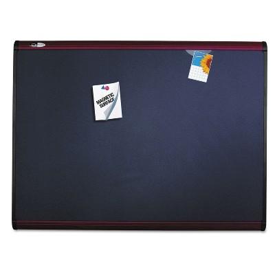 Quartet Prestige Plus Magnetic Fabric Bulletin Board 48 x 36 Mahogany Frame MB544M