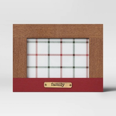 """4"""" x 6"""" 'Family' Plated Frame Wood - Threshold™"""