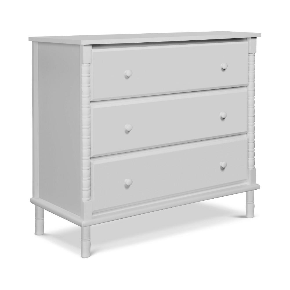 Davinci Jenny Lind Spindle 3-Drawer Dresser - Fog Gray