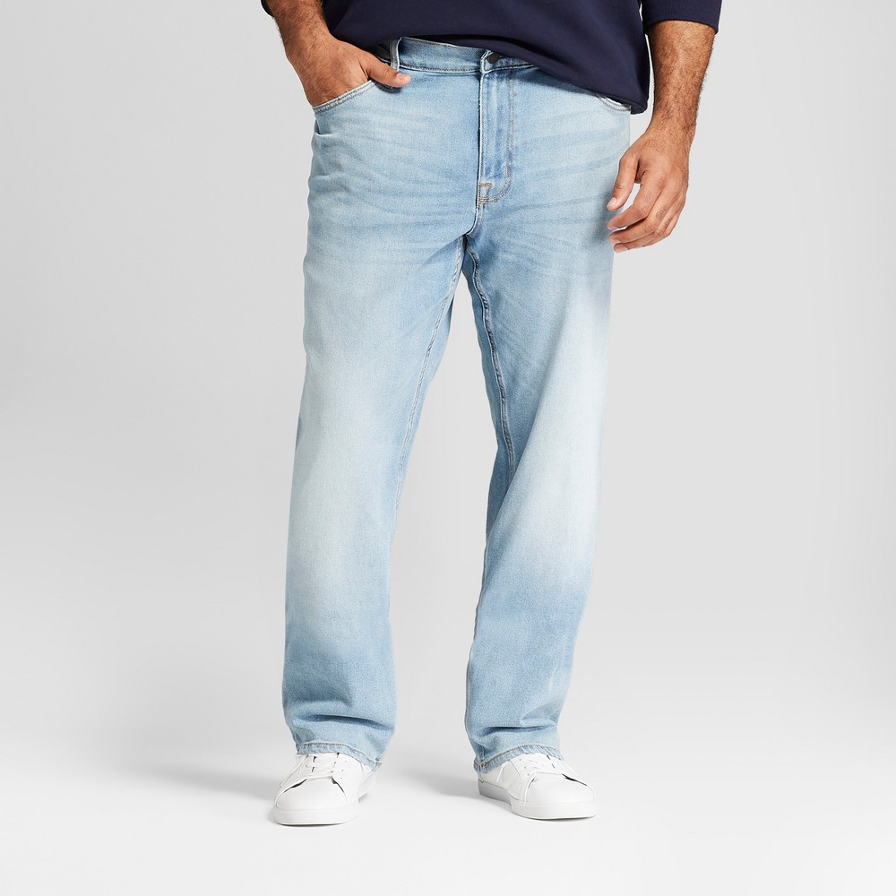 Men's Big & Tall Straight Fit Jeans with Coolmax - Goodfellow & Co Natural 58X32, Blue