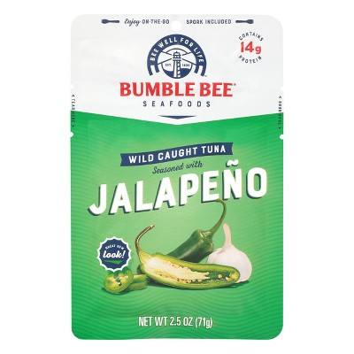Bumblee Bee Jalapeno Seasoned Tuna Pouch with Spoon - 2.5oz