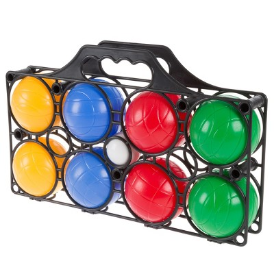 Toy Time Beginner Bocce Ball Set With Carrying Case, 8 Balls, and Pallino