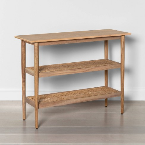 Wood & Cane Console Table - Hearth & Hand™ with Magnolia - image 1 of 4