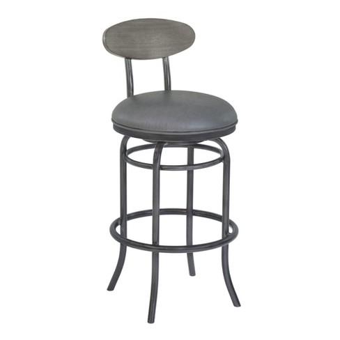 Strange 26 Armen Living Davis Counter Height Metal Swivel Barstool Vintage Gray Machost Co Dining Chair Design Ideas Machostcouk