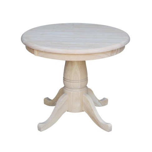 Round Pedestal Table Wood - International Concepts - image 1 of 4
