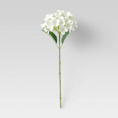 """24"""" Artificial Hydrangea Plant Stem Arrangement White - Threshold™"""