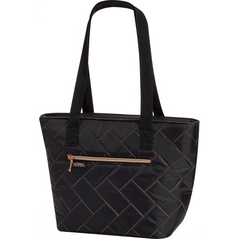 Thermos Raya 9 Can Lunch Tote - Black Chevron Quilt - image 1 of 3