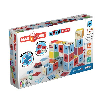 Geomag Magicube Word Building Magnetic Building Set 79pc