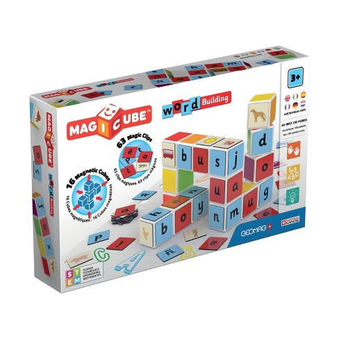 Geomag Magicube Word Building Magnetic Building Set 79pc - image 1 of 4