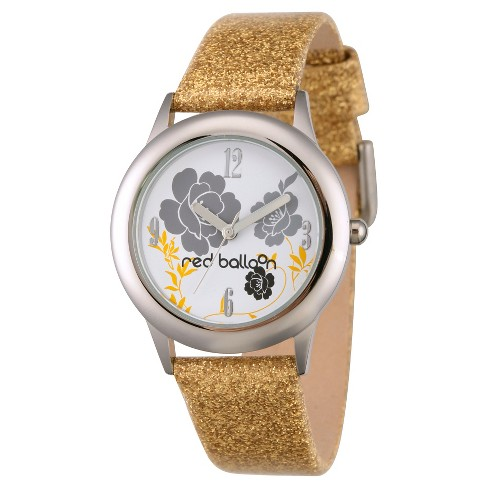 Women's Red Balloon Stainless Steel Watch - Gold - image 1 of 2