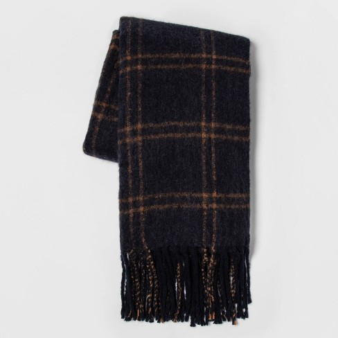 Faux Mohair Grid Throw Navy - Threshold™ - image 1 of 3