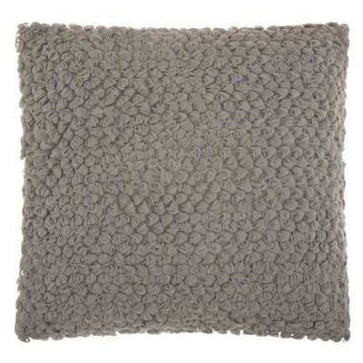 Light Gray Mosaic Throw Pillow - Mina Victory