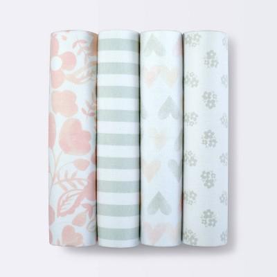 Flannel Baby Blanket Blush 4pk - Cloud Island™ Pink