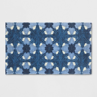 1'8 X2'10  Damask Woven Accent Rug Blue - Room Essentials™