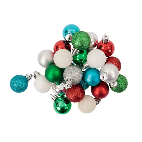 mini ball plastic christmas ornament set bluewhitesilver 25ct wondershop target - Blue And Silver Christmas Ornaments